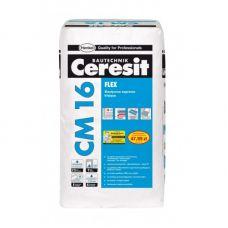 Ceresit CM 16 (25 кг). Эластичный клей для крепления всех видов плитки для наружных и внутренних работ