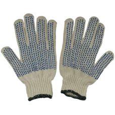 Перчатки хлопчатобумажные с защитой от скольжения, 5-ти нитка