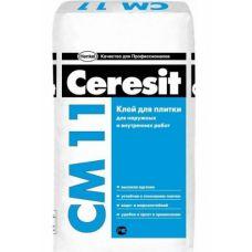 Клей для плитки и керамогранита Ceresit CM 11 (25кг)